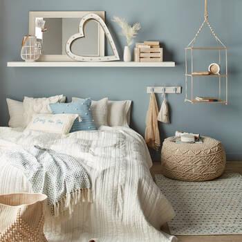 "Crois en toi Jenessa French Decorative Lumbar Pillow 13"" x 20"""