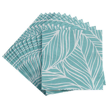 Set of 20 Table Napkins with Leaves