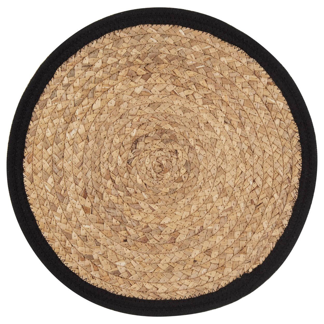 Napperon en fibre naturelle rond