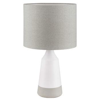 Lampe de table en céramique à deux tons