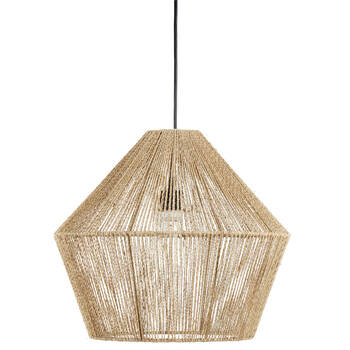 Lampe suspendue en corde de chanvre