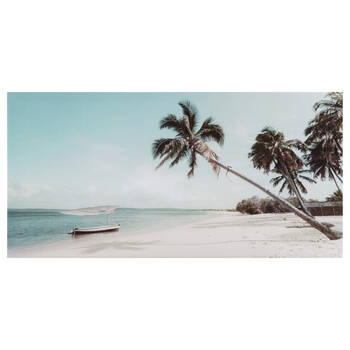 Tropical Boat Printed Canvas