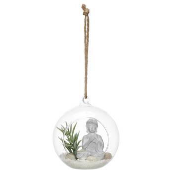 Hanging Terrarium with Buddha