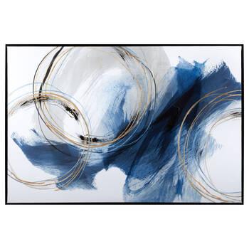 Gel-Embellished Abstract Framed Art
