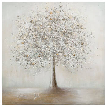 Lonely Tree Oil Painted Canvas