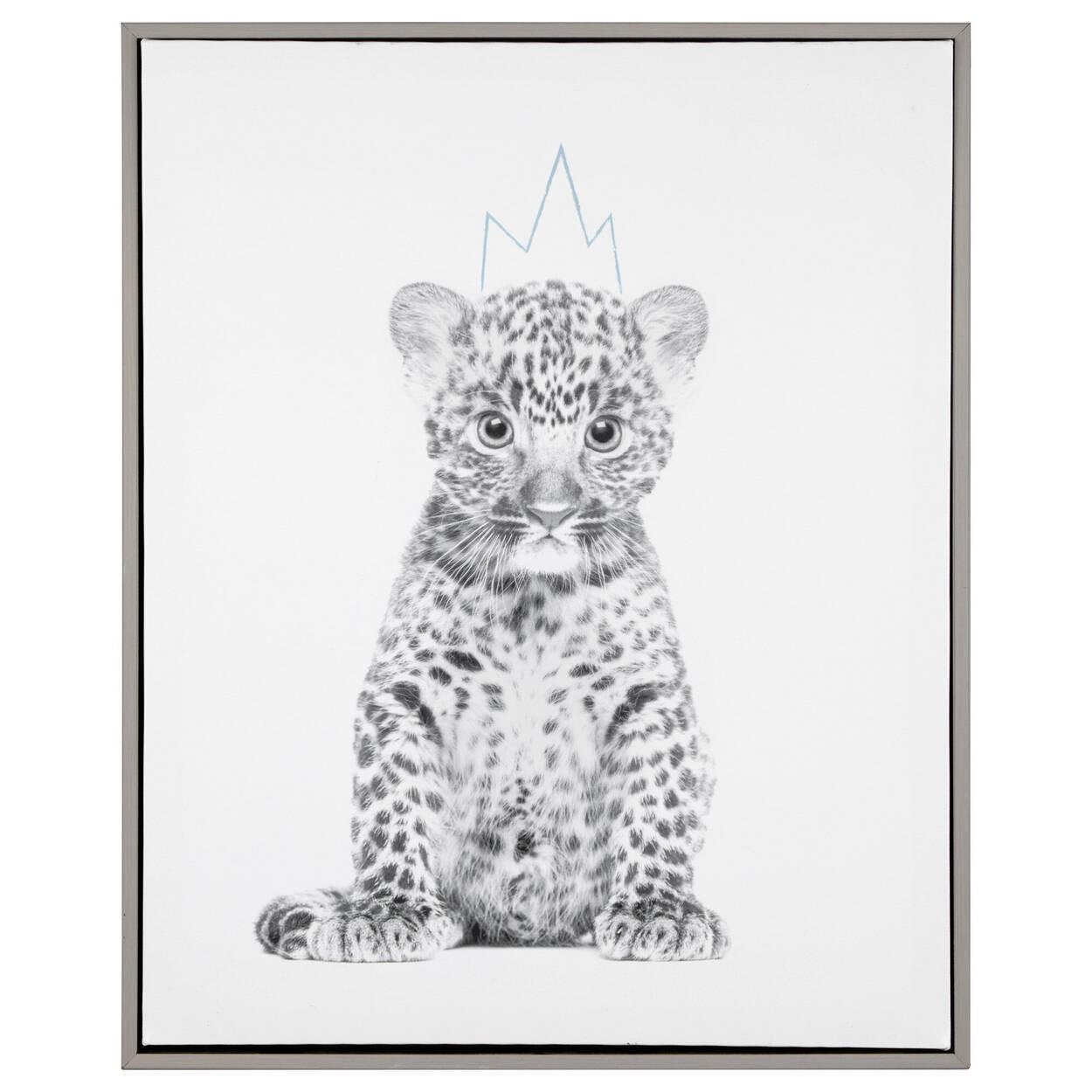 Leopard King Framed Art