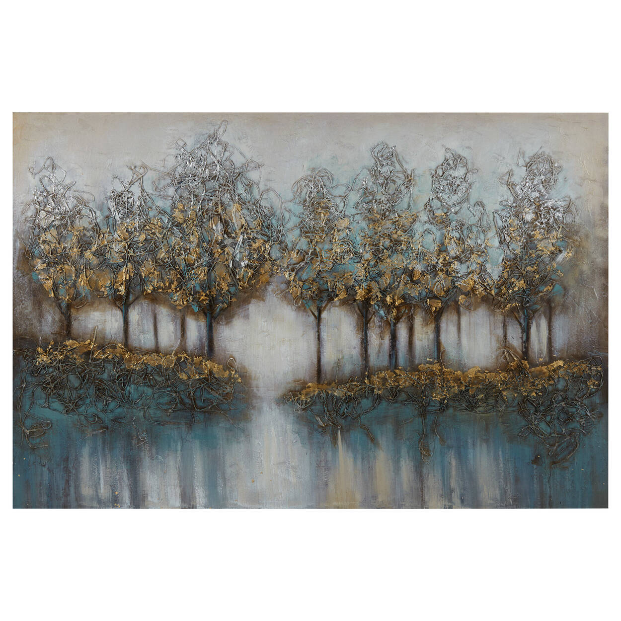 Oil Painted Embellished Tree Canvas