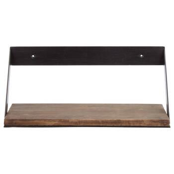 Medium Wood and Metal Shelf