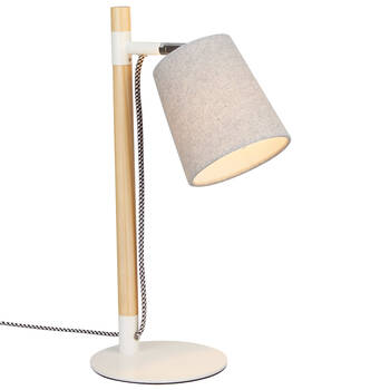Wood and Metal Desk Lamp