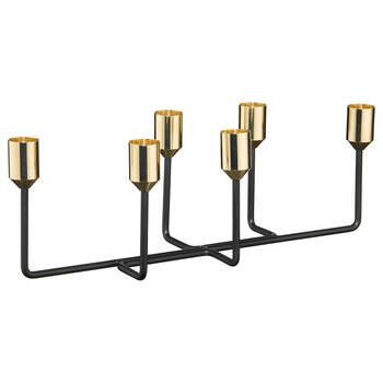 Porte-chandelles en métal à 6 places