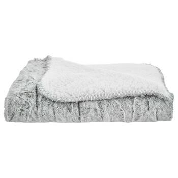 "Cierra Faux Fur & Sherpa Throw 30"" X 40"""