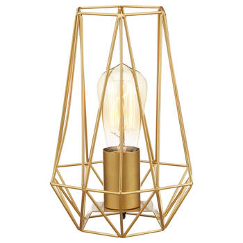 Geometric Metal Wire Table Lamp