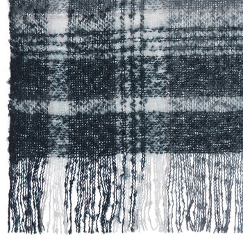 "Kiley Plaid Throw with Tassels 50"" X 60"""