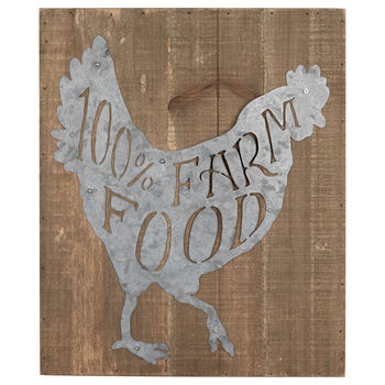 Farm Food Wood-Like Plaque