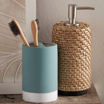 Porte-brosse à dents avec fini en caoutchouc