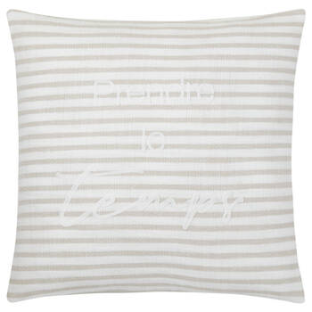 "Zoja Prendre le temps Decorative Pillow with 19"" x 19"""