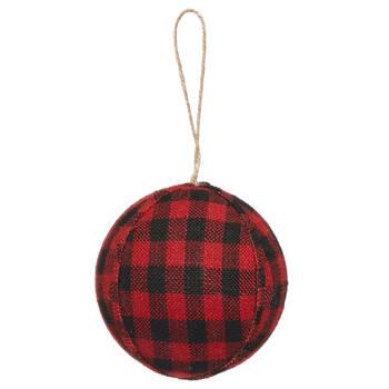 Plaid Ball Ornament