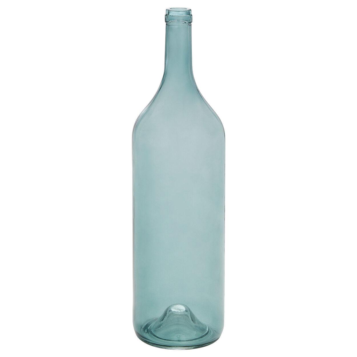 Glass Bottle Floor Vase