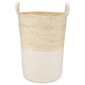 Panier à linge en fibre de maïs et en coton
