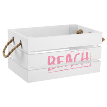 Large Beach Wooden Crate