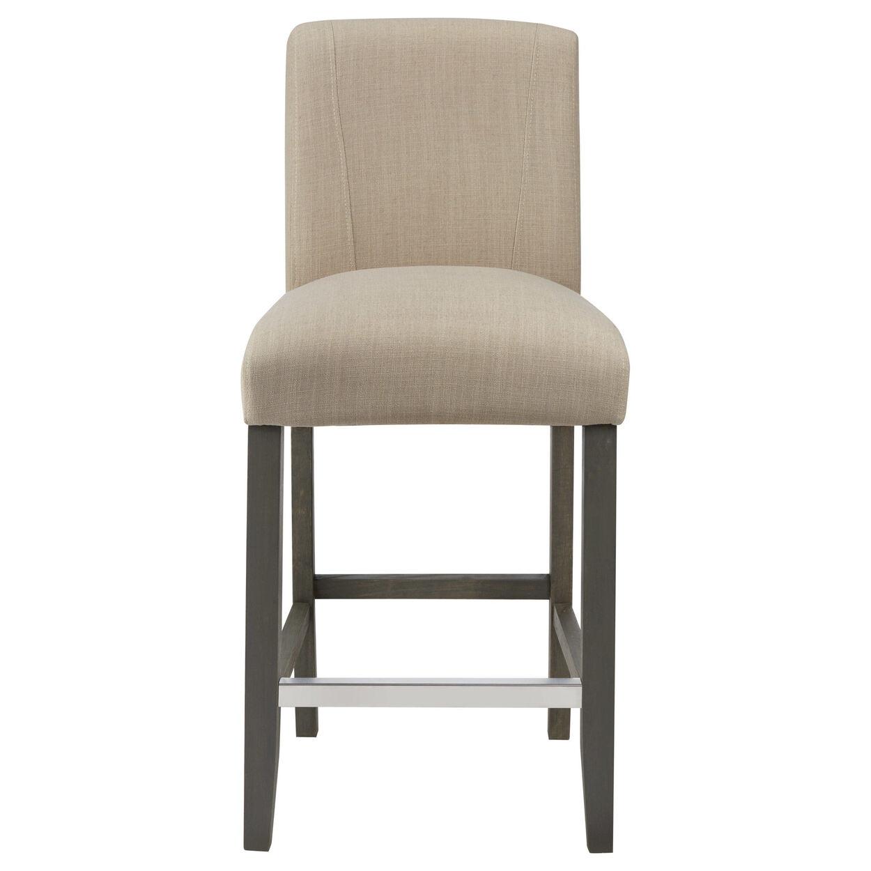 Fabric and rubberwood bar stool
