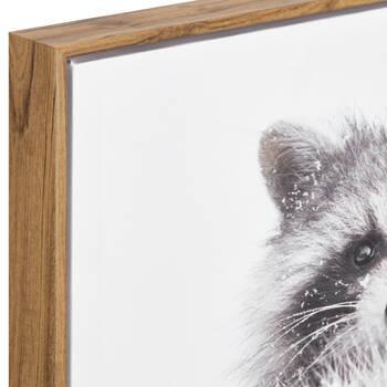 Snowy Raccoon Printed Framed Art