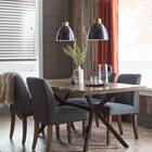 Metal and Wood Ceiling Lamp