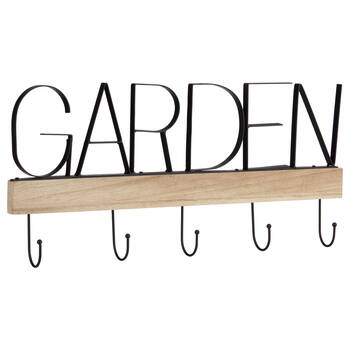 Iron and Wood Garden Hooks