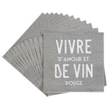 Pack of 20 Amour Paper Napkins