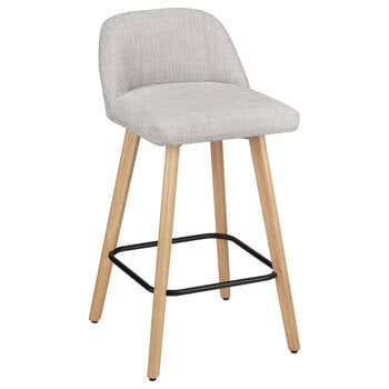 Chita Fabric and Wood Bar Stool