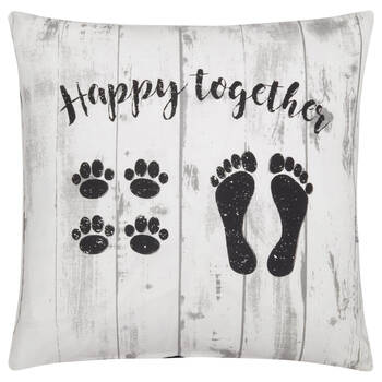 """Happy Together Decorative Pillow Cover 18"""" X 18"""""""
