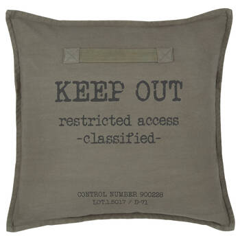 "Coussin décoratif Keep Out 18"" x 18"""
