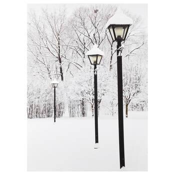 Winter Street Lamps