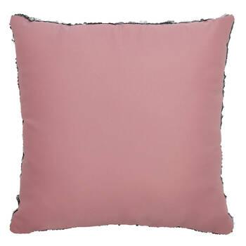 "Smile Sequined Decorative Pillow 18"" X 18"""