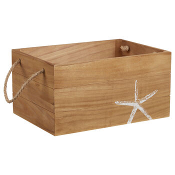 Large Starfish Wooden Crate