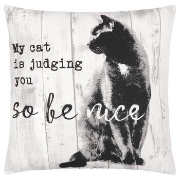 "Be Nice Decorative Pillow Cover 18"" X 18"""