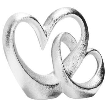 Double cœur décoratif en céramique
