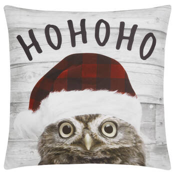 "Ho Ho Ho Decorative Pillow Cover 18"" X 18"""