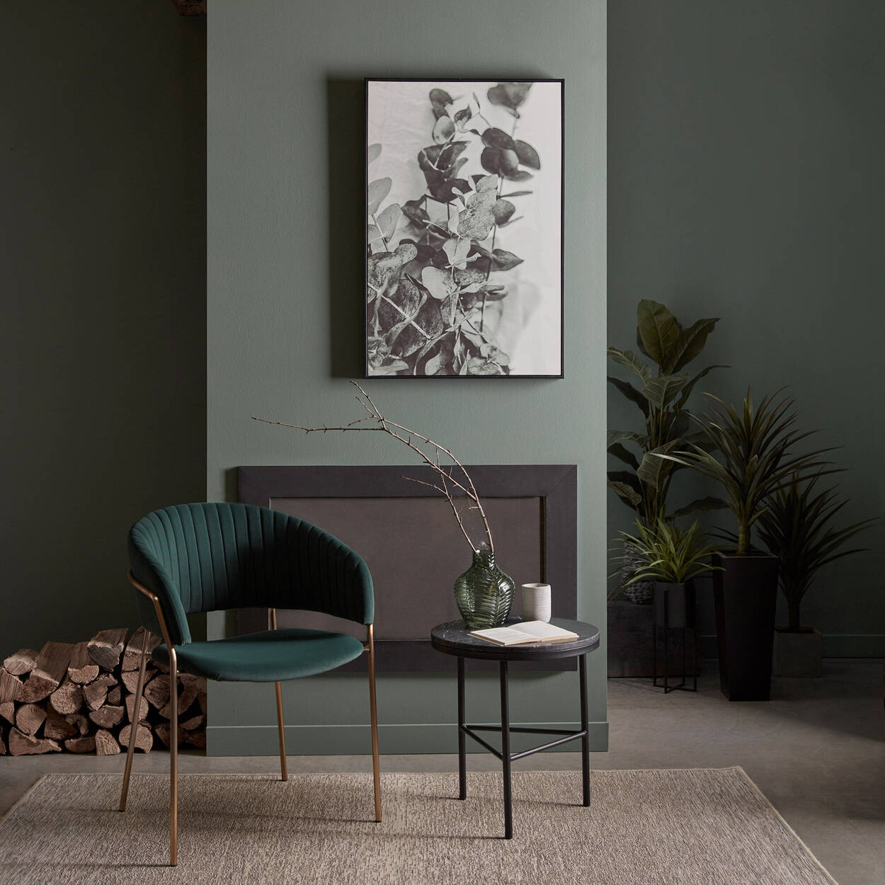 Cadre imprimé d'eucalyptus