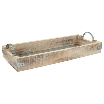 Wood and Galvanized Metal Serving Tray