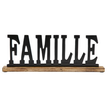 Decorative Metal Word Famille