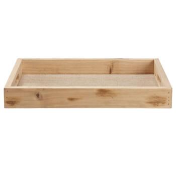 Natural Wood Rectangular Tray