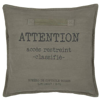 "Attention accès restreint Decorative Pillow 18"" x 18"""
