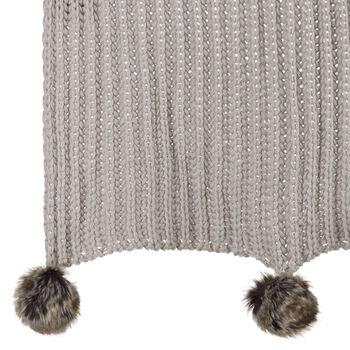 """Jaylon Knit Throw with Pom-poms 50"""" X 60"""""""