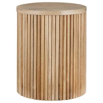Table d'appoint en bois de paulownia