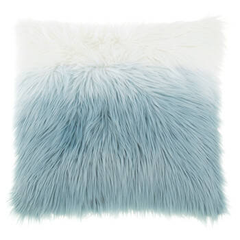 "Ceti Ombré Faux Fur Decorative Pillow 17"" x 17"""