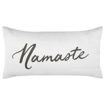 "Namaste Decorative Lumbar Pillow 11"" X 21"""