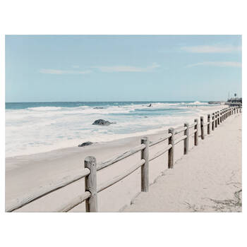 A Day at the Beach Printed Canvas