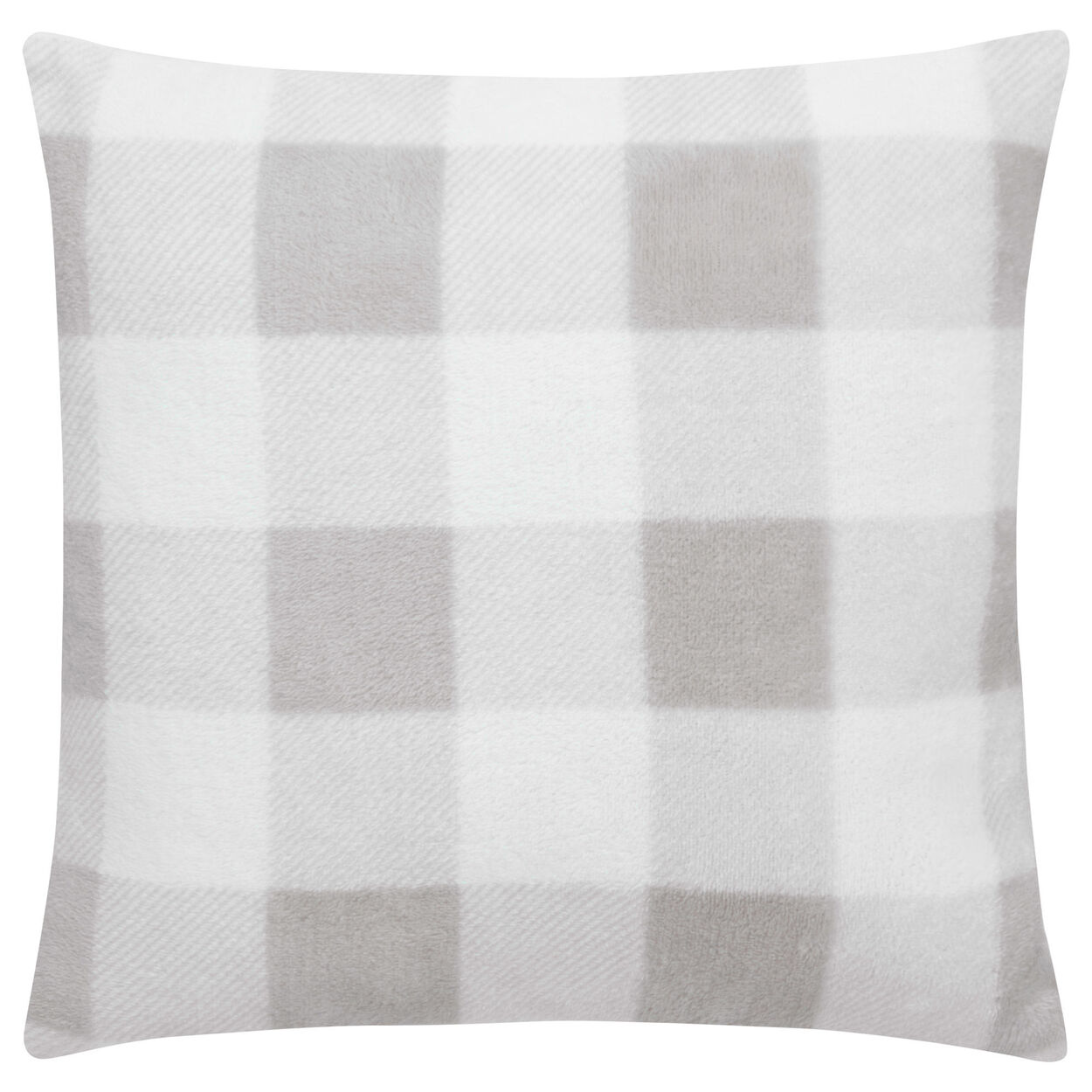 "Robin Plaid Fleece Decorative Pillow 15"" X 15"""