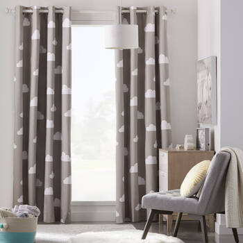 Cloud Print Blackout Curtain